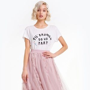 NWT Wildfox Til' brunch do us part tee Large